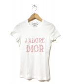 Christian Dior(クリスチャン ディオール)の古着「[OLD]J'ADORE DIOR Tシャツ」|ホワイト