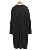 GROUND Y(グランドワイ)の古着「コットン天竺ロングカーディガン」|ブラック
