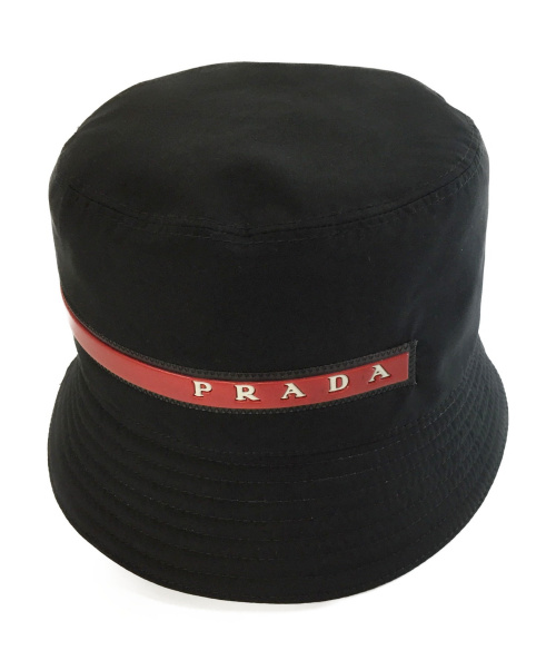 PRADA(プラダ)PRADA (プラダ) バケットハット ブラック サイズ:Sの古着・服飾アイテム