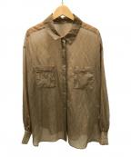 Snidel(スナイデル)の古着「シアーシャツ」|ベージュ