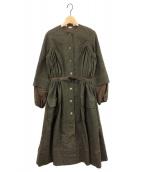 ()の古着「ワンピースコート」|オリーブ