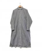 ticca(ティッカ)の古着「ロンドンストライプシャツワンピース」 ネイビー