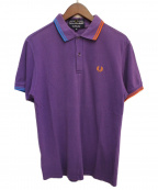 COMME des GARCONS SHIRT(コムデギャルソンシャツ)の古着「×FRED PERRY  鹿の子ポロシャツ」|パープル