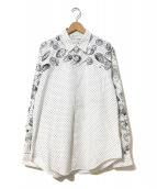 ()の古着「紋章&ペイントシャツ」|ホワイト