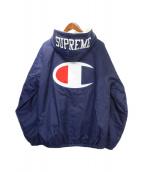 SUPREME(シュプリーム)の古着「sherpa lined hooded」|ネイビー