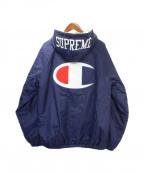 SUPREME(シュプリーム)の古着「sherpa lined hooded」 ネイビー