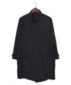 山内(ヤマウチ)の古着「スタンドカラーミリタリーコート」|ブラック