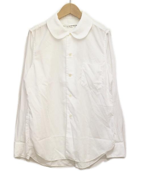 COMME des GARCONS(コムデギャルソン)COMME des GARCONS (コムデギャルソン) ラウンドカラーシャツ ホワイト サイズ:Sの古着・服飾アイテム