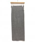 sacai()の古着「ニットスカート」|グレー