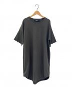 THE RERACS(ザ リラクス)の古着「 オーバーサイズ Tシャツ ワンピース」|オリーブ