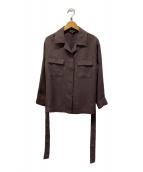 ()の古着「麻調サファリジャケット」|ブラウン