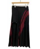 Ys Red Label(ワイズレッドレーベル)の古着「プリーツスカート」|ブラック