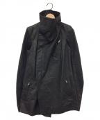 RICK OWENS(リックオウエンス)の古着「レザーライダースジャケット」|ブラック