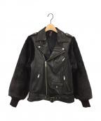 MIHARA YASUHIRO(ミハラヤスヒロ)の古着「エコファーレザーライダースジャケット」|ブラック