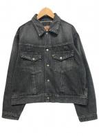 STA-WEST'S(スタ ウエスト)の古着「デニムジャケット」|ブラック