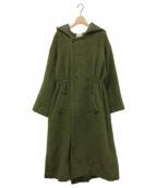()の古着「SHAGGY HOOD LONG COAT」 グリーン