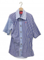 Vivienne Westwood RED LABEL(ヴィヴィアンウエストウッドレッドレーベル)の古着「ストライプMIXシャツ」