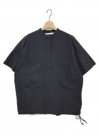 FRAMeWORK(フレームワーク)の古着「シアサッカードロストシャツ」 ブラック