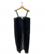 FACTOTUM(ファクトタム)の古着「シアーノースリーブワンピース」|ブラック