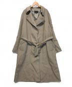 icB(アイシービー)の古着「WoolReverトレンチ型コート」|グレー