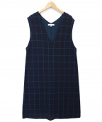 KUMIKYOKU(クミキョク)の古着「ジャンスカツインワンピース」|ネイビー