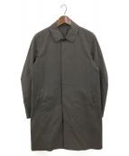 ()の古着「Ny/Coストレッチタッサーステンカラーコート」|チャコールグレー