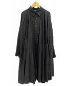 LIMI feu(リミフゥ)の古着「シャツワンピース」|ブラック