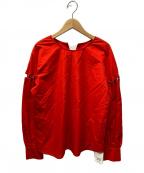 Demi-Luxe Beams(デミルクス ビームス)の古着「レースアップスリーブプルオーバー」 レッド