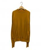 MAISON EUREKA(メゾン エウレカ)の古着「ラミーハイゲージセーター」|マスタード