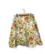 KUMIKYOKU(クミキョク)の古着「アートフラワースカート」|ホワイト