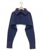 FUMIKA UCHIDA(フミカ ウチダ)の古着「ショート丈ハイネックニット」|ネイビー