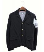 ()の古着「コットンスナップボタンジャケット」 ブラック