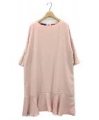()の古着「フリルスリーブワンピース」|ピンク