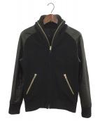 ()の古着「袖レザースタジャン」|ブラック