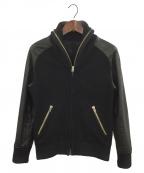 ripvanwinkle(リップヴァンウィンクル)の古着「袖レザースタジャン」|ブラック