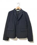 COMME des GARCONS COMME des GARCONS()の古着「ギャバウールキルティングジャケット」 ネイビー