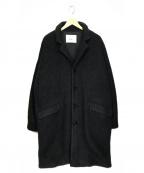 gold(ゴールド)の古着「ウール シャギー グランパ コート」|ブラック