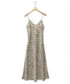 moussy(マウジー)の古着「LEO PRINTED CAMI ドレス」 ベージュ