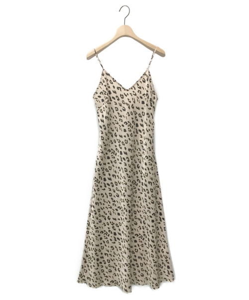 moussy(マウジー)moussy (マウジー) LEO PRINTED CAMI ドレス ベージュ サイズ:FREE 未使用品の古着・服飾アイテム