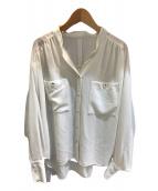 ()の古着「サーブルジョーゼットギャザーブラウス」 ホワイト