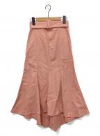 eimy istoire(エイミーイストワール)の古着「ベルト付きカラーマーメイドスカート」|ピンク