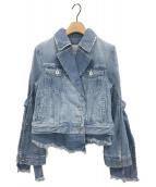 UN3D.(アンスリード)の古着「レイヤードデニムジャケット」|ブルー
