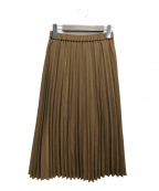 KUMIKYOKU(クミキョク)の古着「リネンライクベーシック スカート」|ブラウン