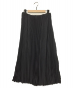 ()の古着「ストレッチプリーツスカート」|ブラック
