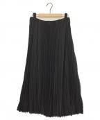 08sircus(ゼロエイトサーカス)の古着「ストレッチプリーツスカート」 ブラック