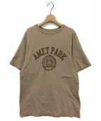 Americana(アメリカーナ)の古着「AMEY PARK Tシャツ」|ブラウン