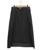 ()の古着「デニムスカート」|ブラック