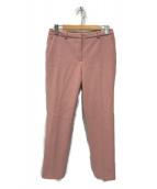 ()の古着「テーパードスリムクロップドパンツ」|ピンク