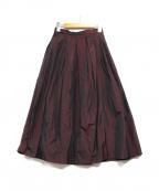IENA LA BOUCLE(イエナ ラ ブークル)の古着「タフタタックスカート」|ボルドー
