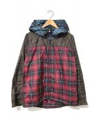 ()の古着「コンビナイロンジップジャケット」|レッド